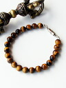Tiger eye Beads Bracelet * magnet clasp