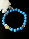 68% of large drop of rutile quartz 10mm ball & turquoise power stone bracelet sale special price OFF