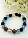 Aqua aura Onyx bracelet [standard]