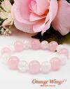 Rose Quartz & crack Crystal bracelet