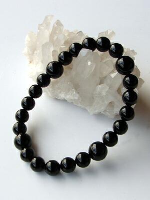 ブラックオニキス数珠ブレスレット