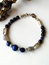 Lapis lazuli Karen silver bracelet power stone labradorite
