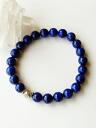 Lapis lazuli Karen silver bracelet power stone 8mm (4A class)