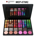 Eye shadow palette for professionals, make palette, 78 colors of Aizu palette MEP-78#2 (eye shadow)