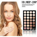 Eye shadow palette for professionals, 28 colors of diamond color palette MEP-028P (eye shadow)