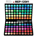 Eye shadow palette for professionals, make palette, 120 colors of Aizu palette MEP-120#01 (eye shadow)