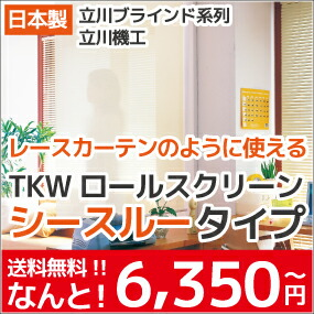 TKW ロールスクリーン シースルータイプ
