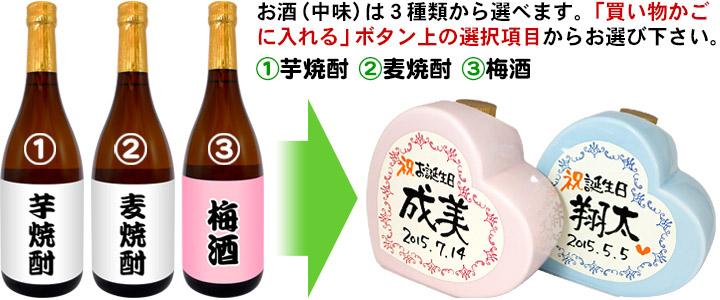 お誕生日のお祝 陶器入り芋焼酎 720ml