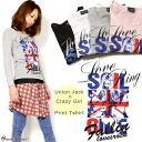 Union Jack x punk girl long sleeve T shirt
