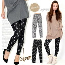 Foil errand ☆ whole pattern print leggings