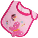 Carters Carter's 10P04oct13 big Butterfly appliqued bib and bib pink