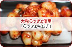 厳選大粒らっきょキムチ、夏バテ防止にも!?
