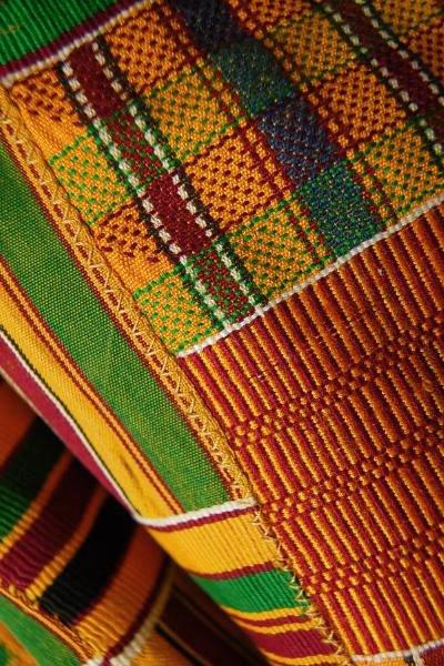 非洲加纳民族服装面料 (肯特布) 黄色系列双大小