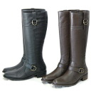 1220 side belt jockey leather boots / real leather boots //