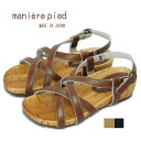pied maniere (マニエールピエ) made by Japan cross belt Sandals 501 / here is commodity.