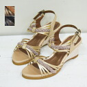 Mesh wedge leather sandal 1573 / leather natural Sandals fs3gm