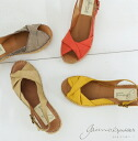 Spanish well-established brand with GAIMO ESPADRILLES (ガイモエスパドリーユ) linen wedge sole sandals ■ GAIMO blusa ■ Calzanor (カルザノール)