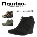 When wear it once, cannot part with Figurino (フィグリーノ) cowhide suede heel sneakers Wise 3E ◆; wear; is a fixture for a feeling. ◆/ leather shoes / ballet shoes / Lady's shoes /