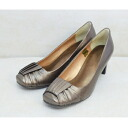 861 Japanese bookbinding leather pumps bronze