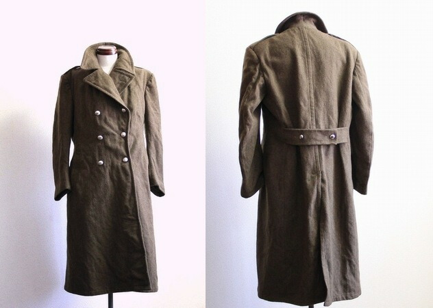 Military Wool Trench Coat