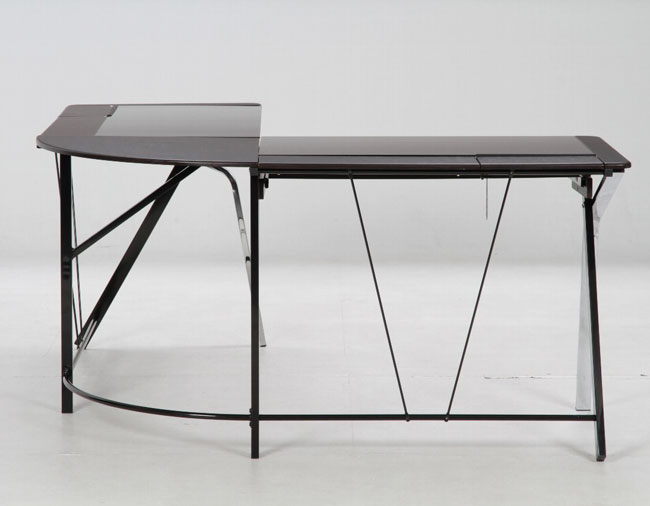 shaped glass computer table desk large PC desk Office table desk