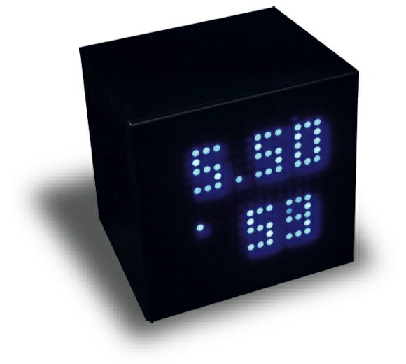 led clock cube blue. Black Bedroom Furniture Sets. Home Design Ideas