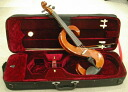 Silent violin set a stylish S-shaped design muted violin, case and bow and cable