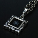 The snowy crystal * onyx plate pendant top