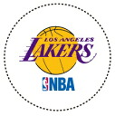 SPALDING (Spalding) sports table stickers with Lakers 40746 CN-S