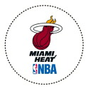 Miami Heat 60746CN-S with SPALDING (Spalding) sports table sticker