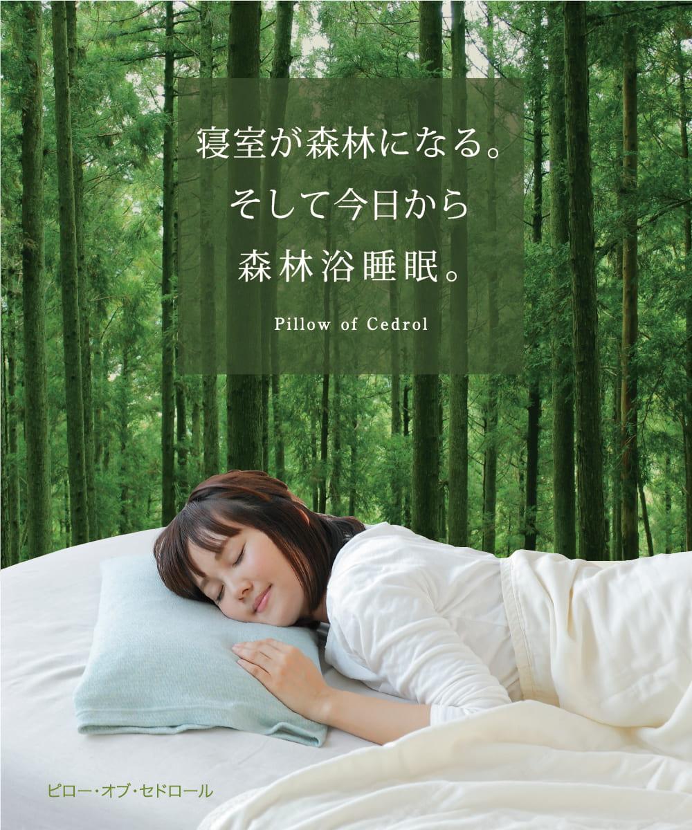 寝室が森林になる。そして今日から森林浴睡眠。スギチップ ピロー・オブ・セドロール Pillow of Cedrol