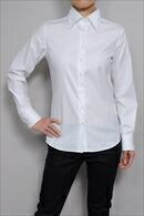 【レディースシャツ】ナチュラルフィット・長袖・ワイドカラー・プレミアムコットン120番手双糸・イージーケア・日本製