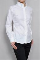 【レディースシャツ】スリムフィット・長袖・ボタンダウン・プレミアムコットン120番手双糸・イージーケア・日本製