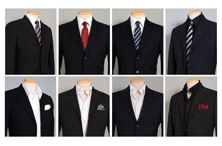 シャツの基本、レギュラーカラー・ベーシックなワイドカラー・人気のボタンダウン。
