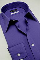 形態安定・パープル紫シャツ