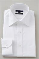 【メンズ・ドレスシャツ・ワイシャツ】 タイトフィット・プレミアムコットン120番手双糸・イージーケア・ワイドカラー