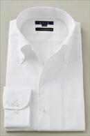 【メンズ・ドレスシャツ・ワイシャツ】タイトフィット・プレミアムコットン120番手双糸・イージーケア・イタリアンカラー・ボタンダウン・第一ボタンあり