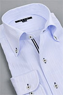 イタリアンカラー・サックスシャツ