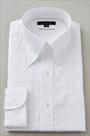 【メンズ・ドレスシャツ・ワイシャツ】 タイトフィット・ドゥエボットーニ・ボタンダウン・クレリック