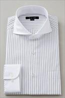 【メンズ・ドレスシャツ・ワイシャツ】 タイトフィット・ホリゾンタルカラー・カッタウェイ・クレリック