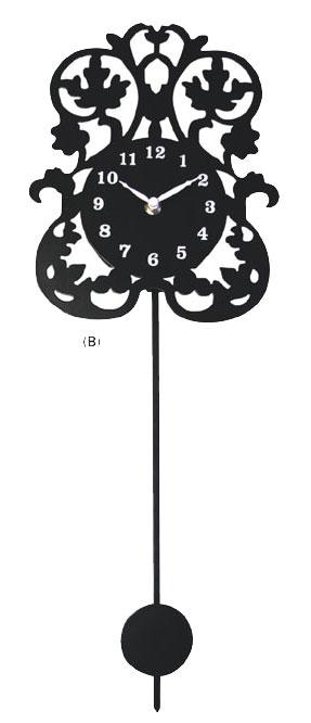 墙上时钟镂空 b 蔓藤花纹蔓藤花纹帽子戏法墙上时钟