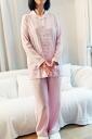 Relaxation Lady's pajamas of three folds of ふわのび stretch gauze