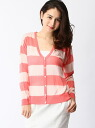 CIAOPANIC TYPY rayon nylon spark knit horizontal stripe cardigan