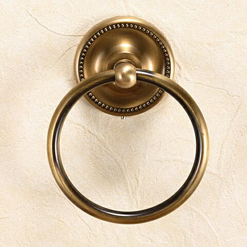 真鍮製アンティークブラス タオルリングS