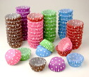 assorted mini muffin-cups (dot) 240 (6 color x 40 sheets) * 12-metal type, made in muffin Pan baking Cup paper, baking, cake Cup gift, gifts, sweets and handmade and confectionery equipment