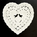 PA08 lace paper (heart)8.5 × 9 cm 120 cute heart shaped lace paper.