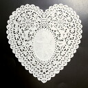 PA09 lace paper (heart)14.5 x 14.5 cm 120 cute heart shaped lace paper.