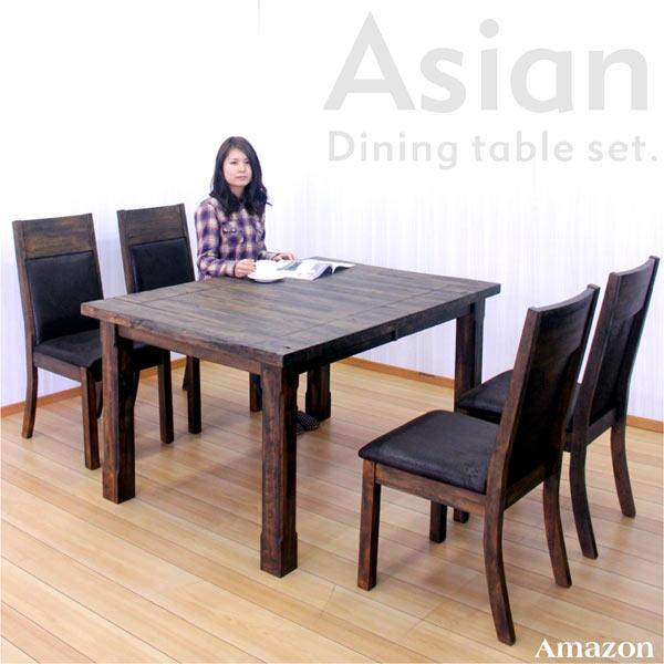 ダイニング5点セット<BR>伸長式テーブルタイプ