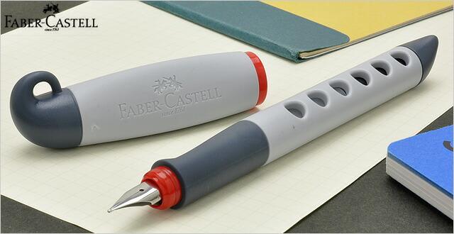ファーバーカステル 万年筆 ティーン 149880 グレーレッド