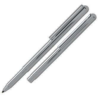 Nespen Ballpoint pen Pocky pocket pen Brilliant (Silver gloss)